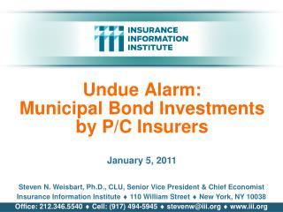 Undue Alarm: Municipal Bond Investments by P/C Insurers