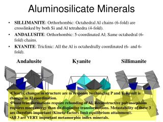 Aluminosilicate Minerals