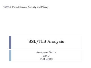 SSL/TLS Analysis