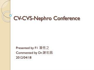 CV-CVS-Nephro Conference