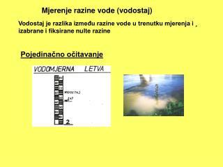 Mjerenje razine vode (vodostaj)