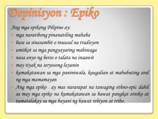 Depinisyon : Epiko