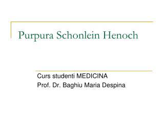 Purpura Sc h onlein Henoch