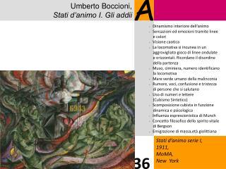 Umberto Boccioni, Stati d'animo I. Gli addii