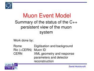 Muon Event Model