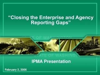 """Closing the Enterprise and Agency Reporting Gaps"""