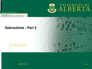 Subroutines - Part 2