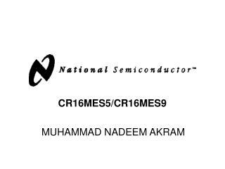 CR16MES5/CR16MES9   MUHAMMAD NADEEM AKRAM
