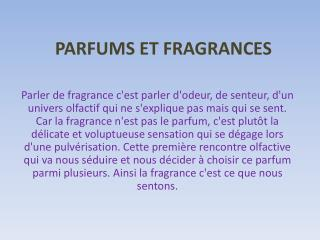 PARFUMS ET FRAGRANCES