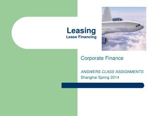 Leasing Lease Financing