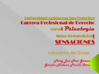 Integrantes del Grupo : Mary Luz  P ari  G omez Gelafio Midwar Parillo Ortiz
