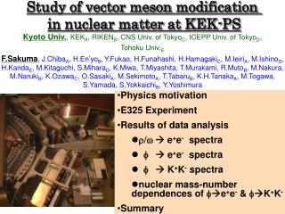 Study of vector meson  modification  in  nuclear matter  at KEK-PS