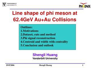 Line shape of phi meson at 62.4GeV Au+Au Collisions