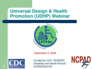 Universal Design & Health Promotion (UDHP) Webinar