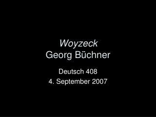 Woyzeck Georg B chner