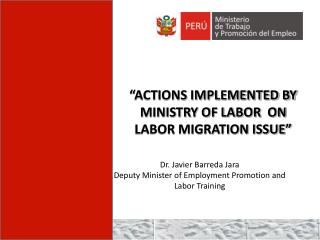 """ACTIONS IMPLEMENTED BY MINISTRY OF LABOR  ON LABOR MIGRATION ISSUE"""