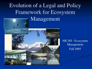 Evolution of a Legal and Policy Framework for Ecosystem Management