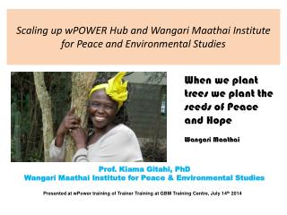 Scaling up  wPOWER  Hub and Wangari Maathai Institute for Peace and Environmental Studies