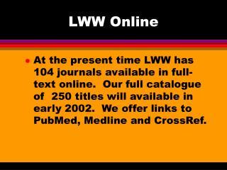 LWW Online