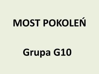 MOST POKOLEŃ
