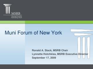 Muni Forum of New York