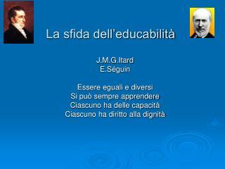 La sfida dell'educabilità