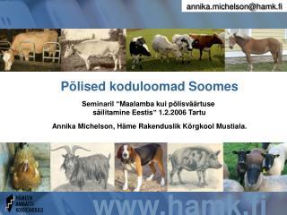 Põlised koduloomad Soomes
