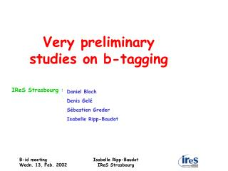 Very preliminary  studies on b-tagging