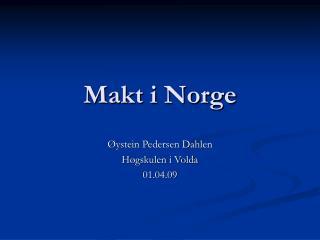 Makt i Norge
