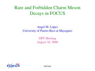 Rare and Forbidden Charm Meson Decays in FOCUS