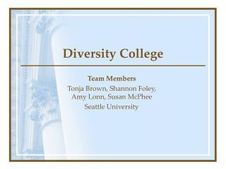 Diversity College