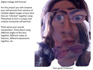 Digital Collage Self-Portrait