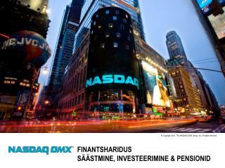 Finantsharidus  Säästmine, investeerimine & pensionid