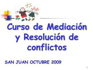 Curso de Mediación y Resolución de conflictos