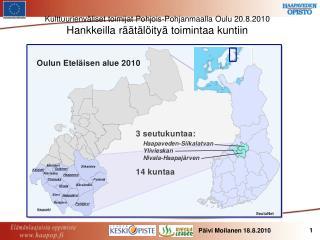 Kulttuurienväliset toimijat Pohjois-Pohjanmaalla Oulu 20.8.2010