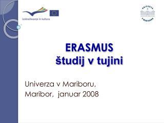 ERASMUS študij v tujini
