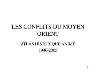 LES CONFLITS DU MOYEN ORIENT