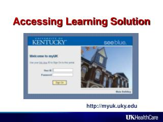 Accessing Learning Solution