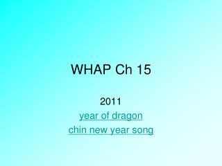 WHAP Ch 15