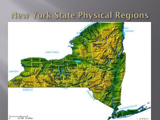New York State Physical Regions