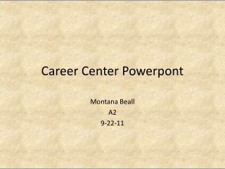 Career Center  Powerpont
