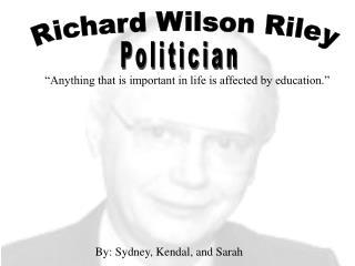 Richard Wilson Riley