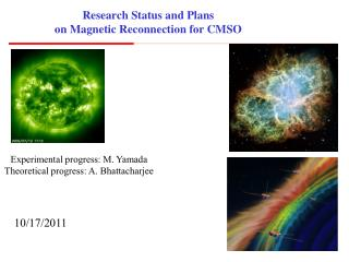 Research Status and Plans on Magnetic Reconnection for CMSO