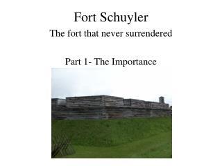 Fort Schuyler