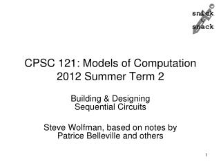 CPSC 121: Models of Computation 2012 Summer Term 2