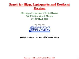 Search for Higgs, Leptoquarks, and Exotics at Tevatron