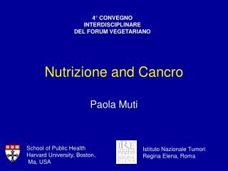 Nutrizione and Cancro