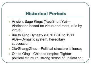 Historical Periods