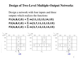 Design of Two-Level Multiple-Output Networks