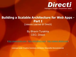 Building a Scalable Architecture for Web Apps -  Part I (Lessons Learned @ Directi)